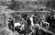 Wolsley PMP 222 (A.L.Mason?)rescued by a Horse on Costerton.Edinburgh trial 1937 . Photo (B)